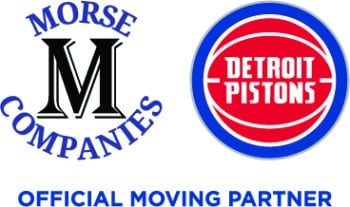 Morse Companies and Detroit Pistons Moving Partners logo